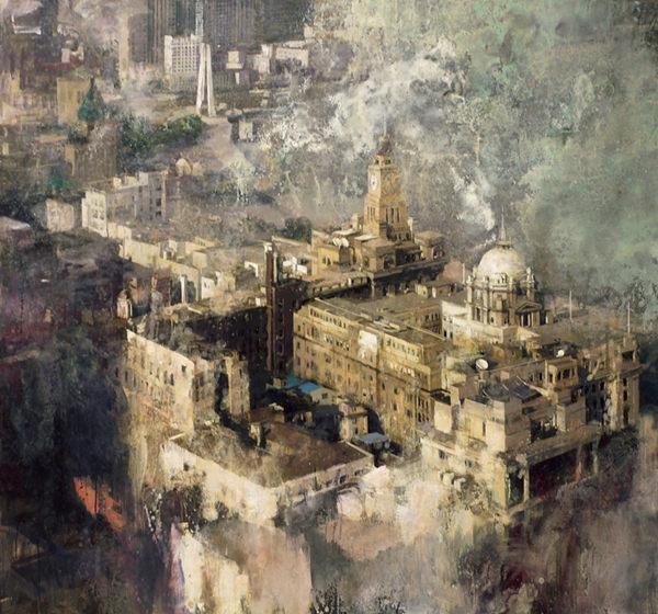 城市风景系   潘文艳 油画 150x170cm